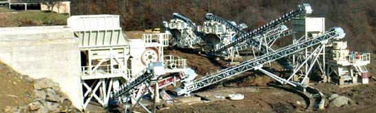 stone crushing plant of 250 - 300 TPH for hard rocks
