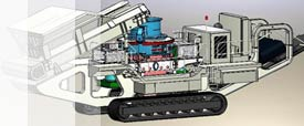 YGD crawler mobile VSI crusher picture