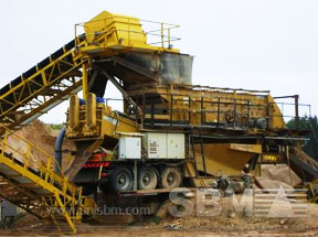 Portable impact crusher plant project