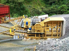 Portable jaw crusher plant project