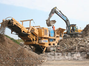 Track mounted crushing plant project