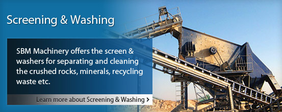 screening and washing plant for the clients