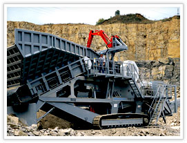 Hydraulic cone mobile crusher plant in Ecuador
